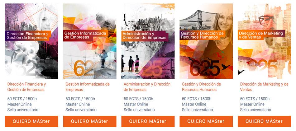 Catálogo de masters